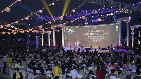 Khách tham dự lễ khai trương FLC Vĩnh Thịnh Resort