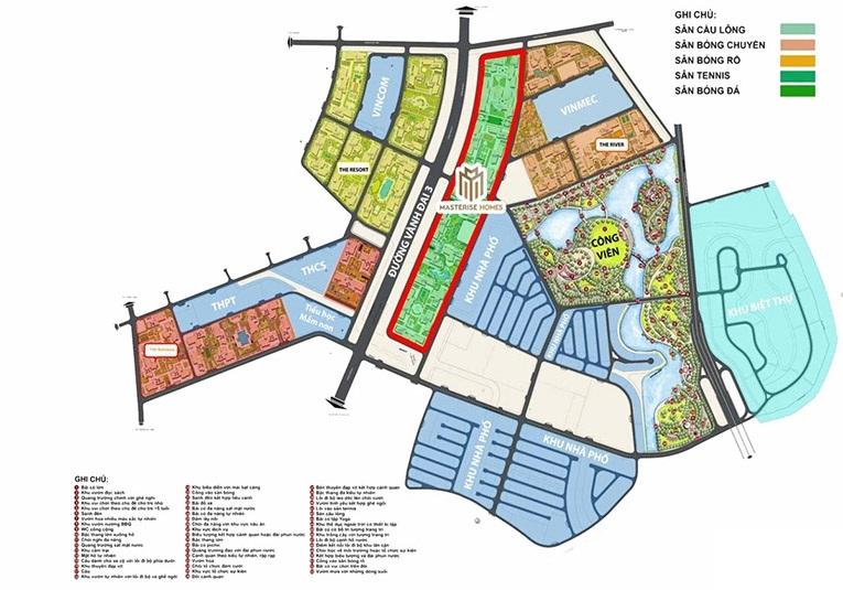 Mặt bằng dự án căn hộ Masterise Homes Quận 9