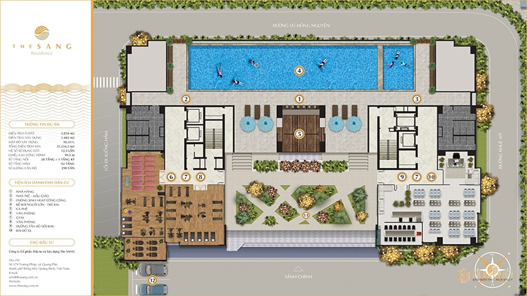 Mặt bằng tổng thể dự án The Sang Residence Đà Nẵng