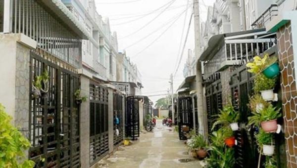 Một khu dân cư phân nền tại huyện Hóc Môn