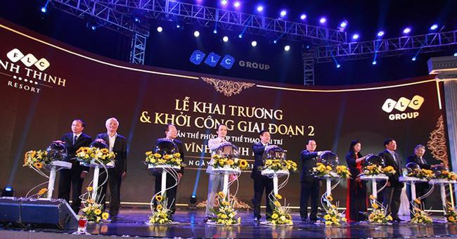 Nghi thức khai trương FLC Vĩnh Thịnh Resort