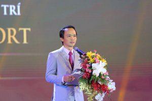 Ông Trịnh Văn Quyết, Chủ tịch Hội đồng Quản trị Tập đoàn FLC phát biểu tại lễ khai trương FLC Vĩnh Thịnh Resort