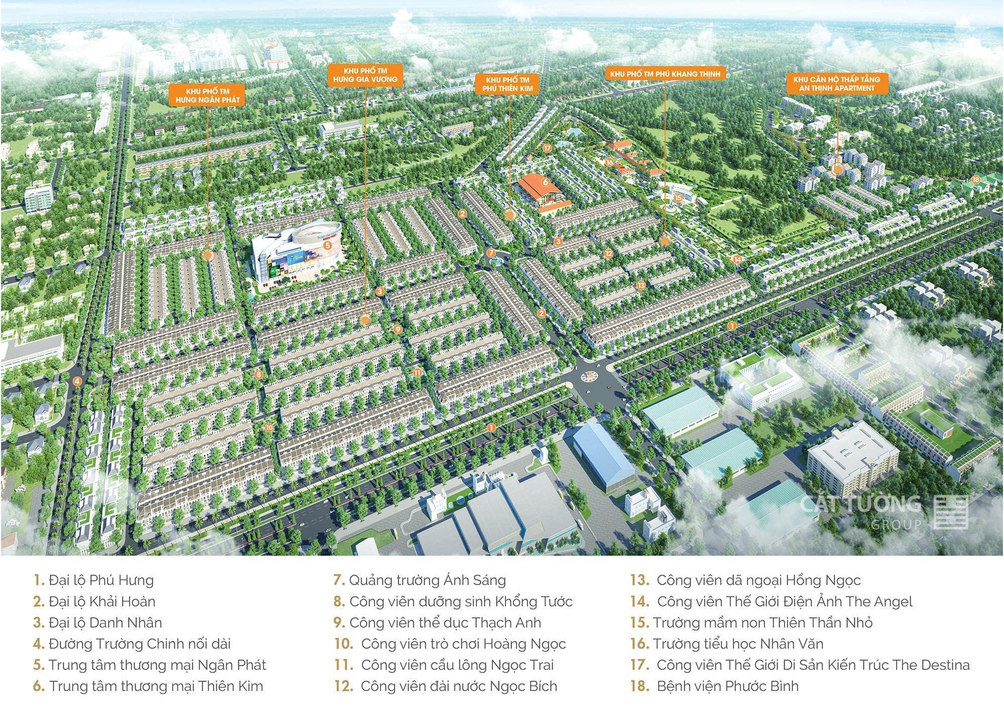 Phối cảnh tiện ích nội khu Cát Tường Phú Hưng