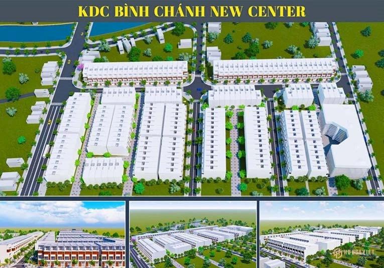 Phối cảnh tổng thể dự án KDC Bình Chánh New Center