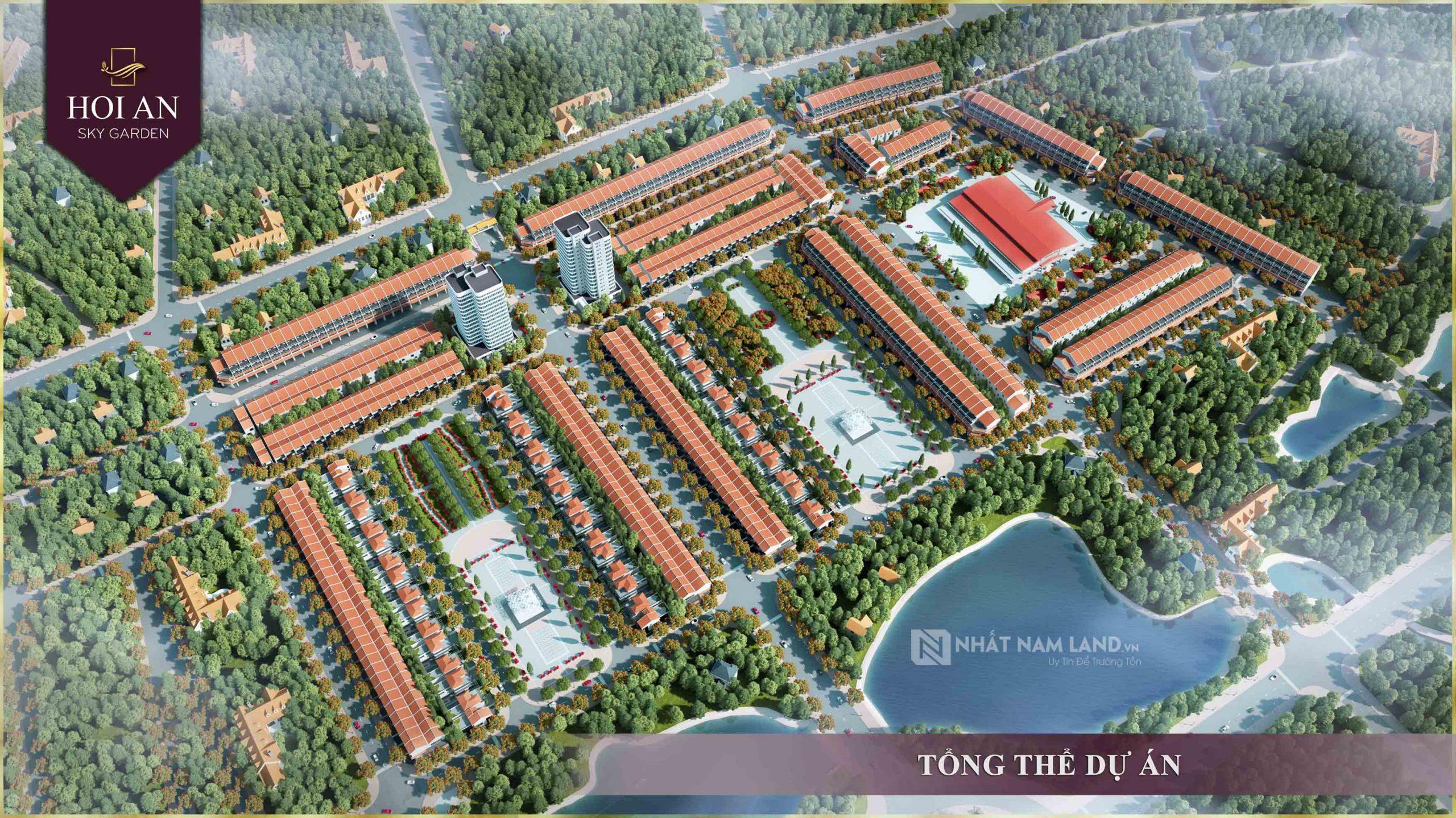 Phối cảnh tổng thể dự án khu đô thị Hội An Sky Garden