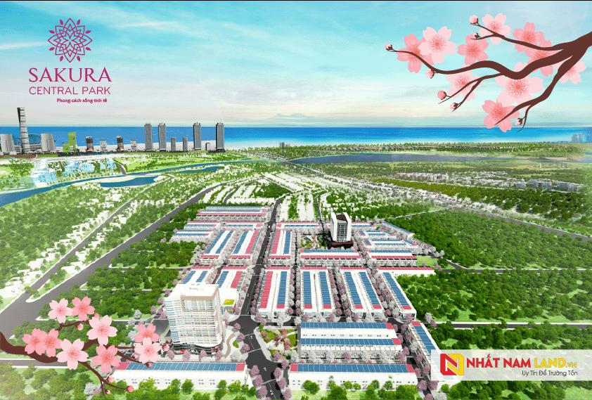 Phối cảnh tổng thể dự án khu đô thị Sakura Central Park