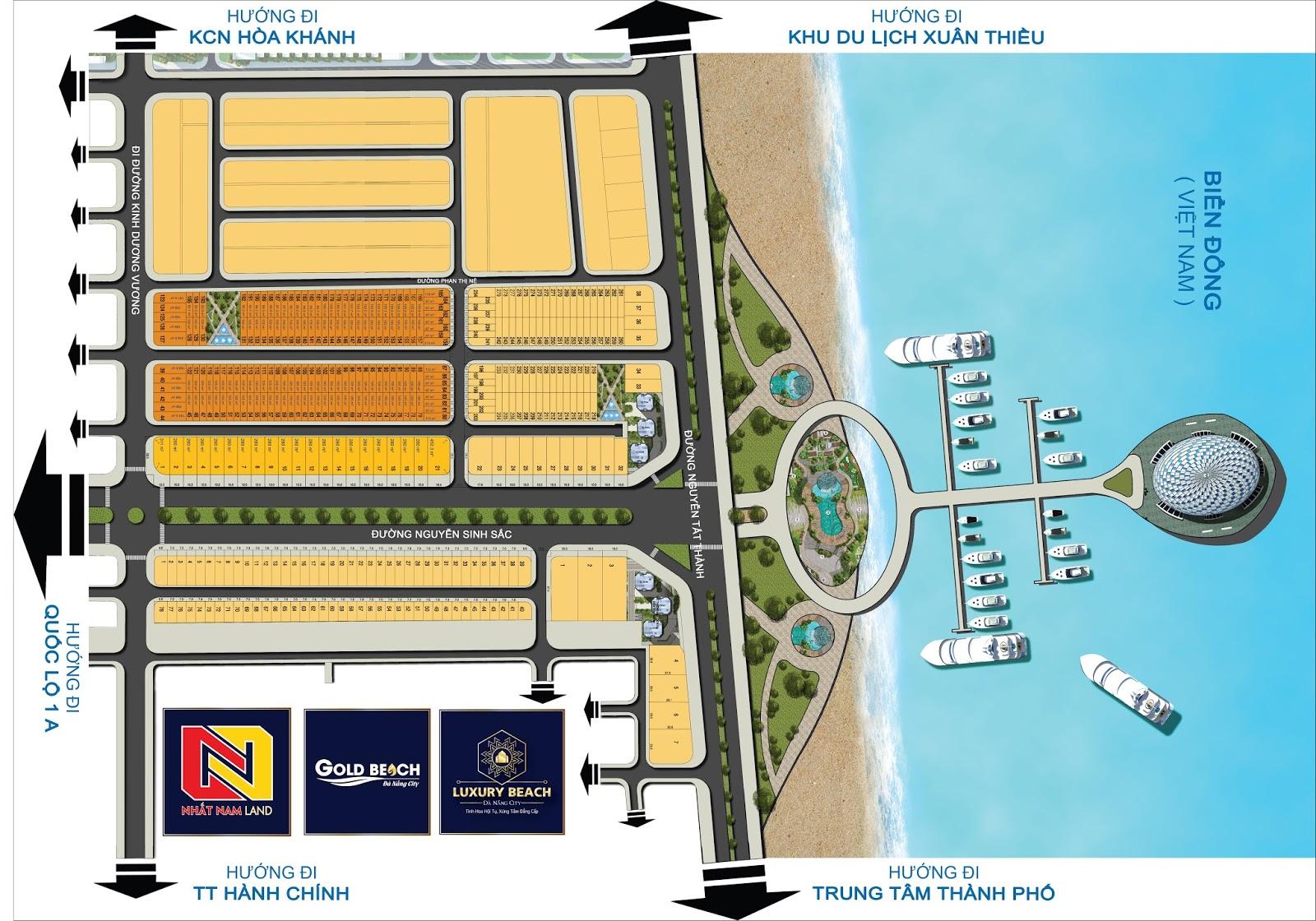 Sơ đồ phân lô khu đô thị Luxury Beach