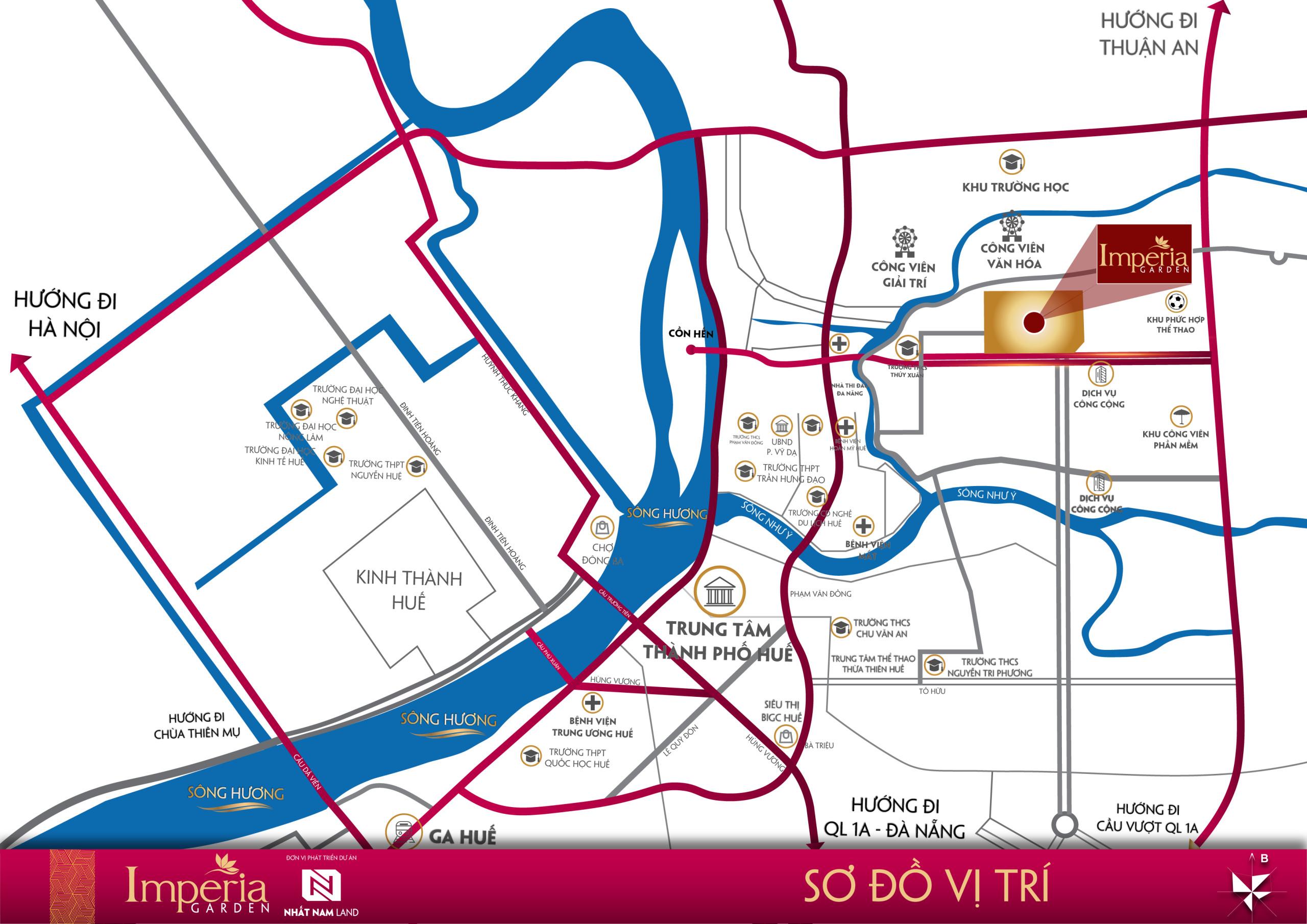 Sơ độ vị trí 2 dự án Royal Park