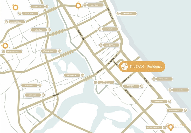 Sơ đồ vị trí căn hộ The Sang Residence Đà Nẵng