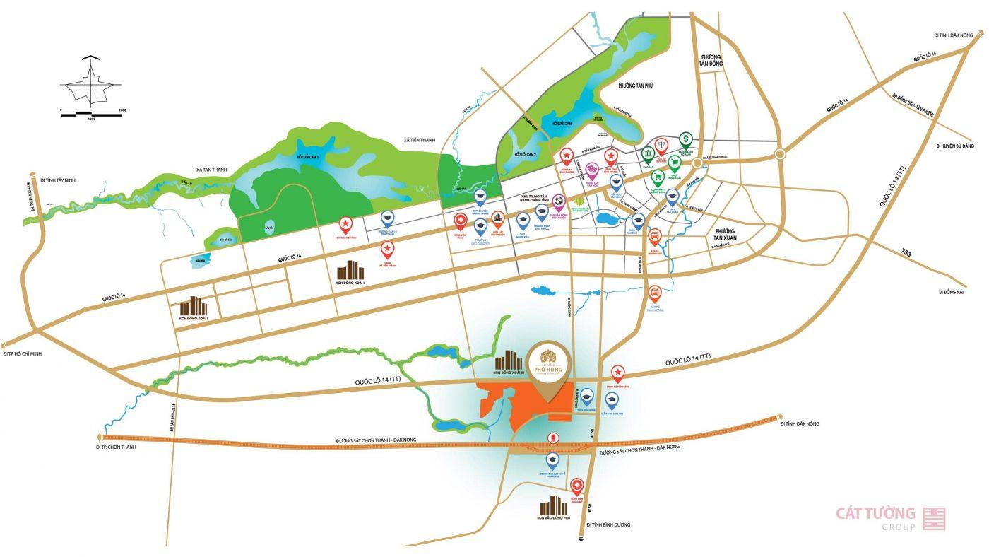 Sơ đồ vị trí Cát Tường Phú Hưng