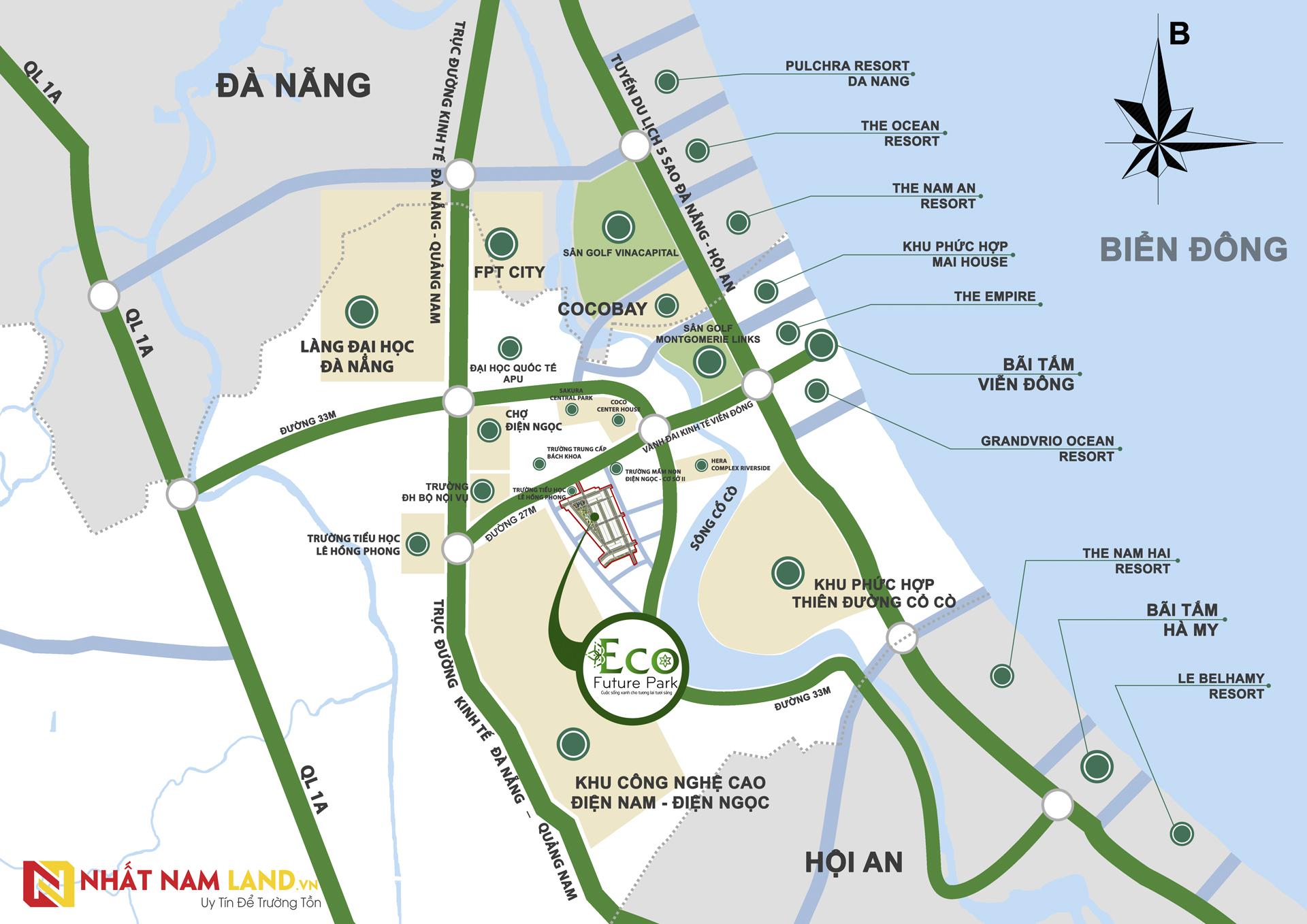 Sơ đồ vị trí dự án Eco Future Park