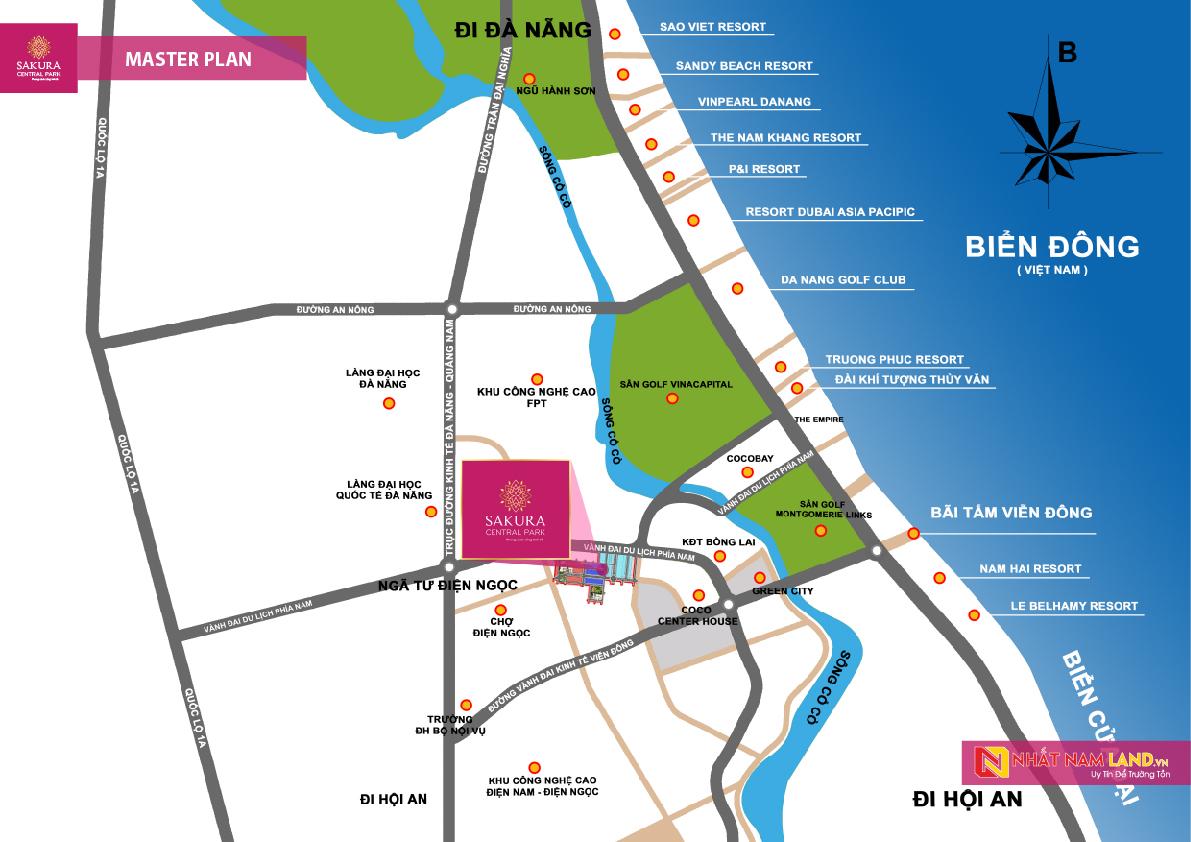 Sơ đồ vị trí dự án Sakura Central Park