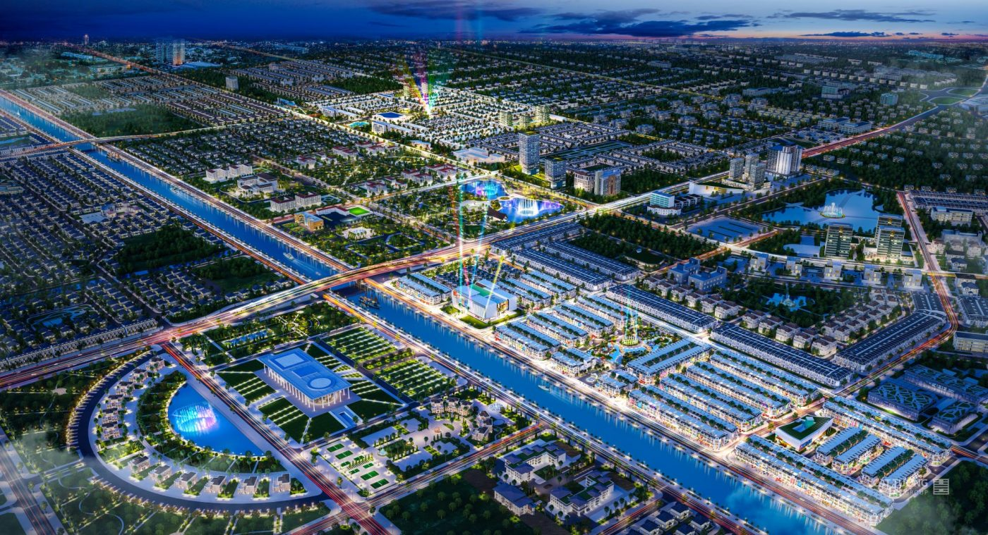 Toàn cảnh dự án khu đô thị Cát Tường Western Pearl Hậu Giang