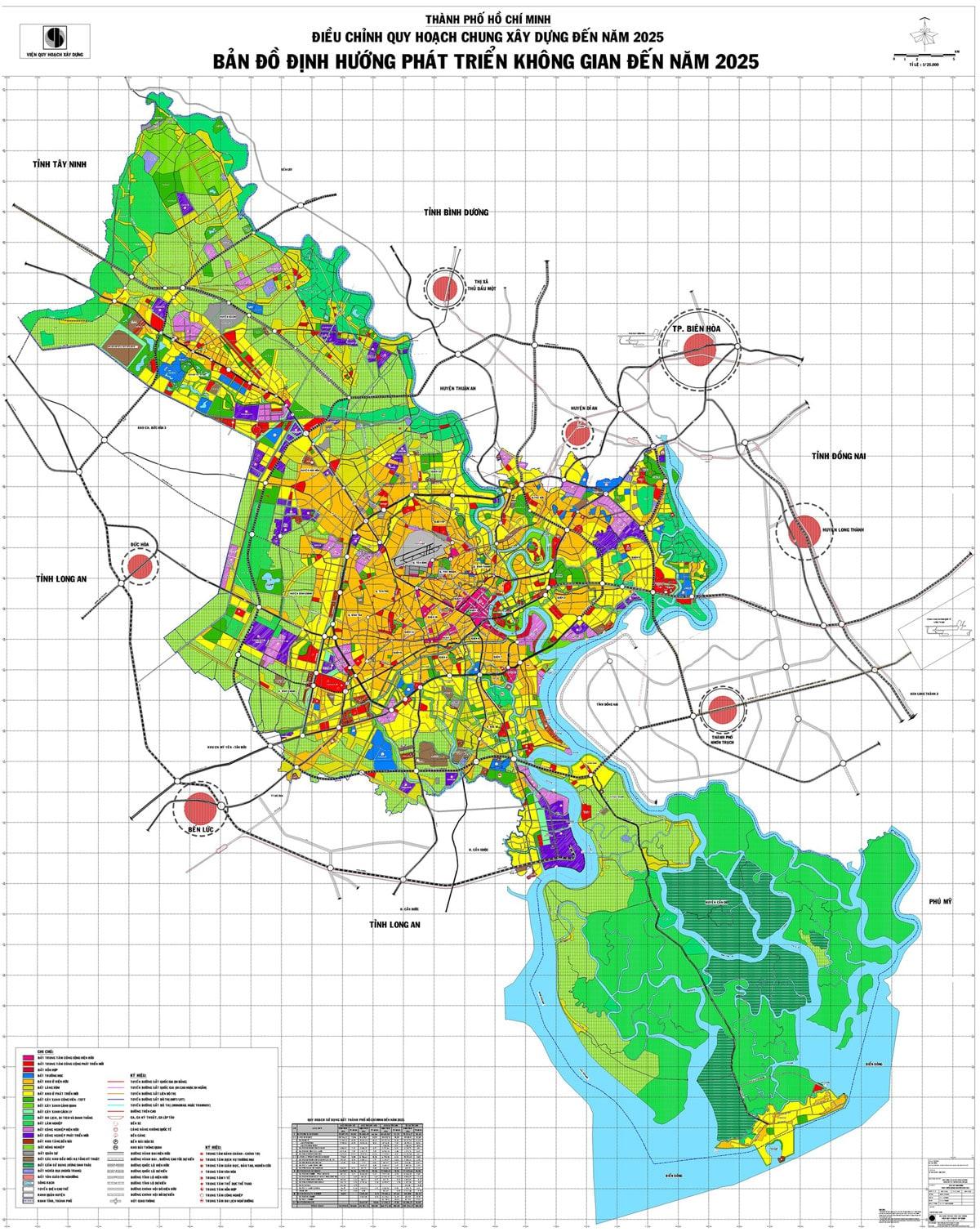 Bản đồ định hướng phát triển đến năm 2025 tại Hồ Chí Minh