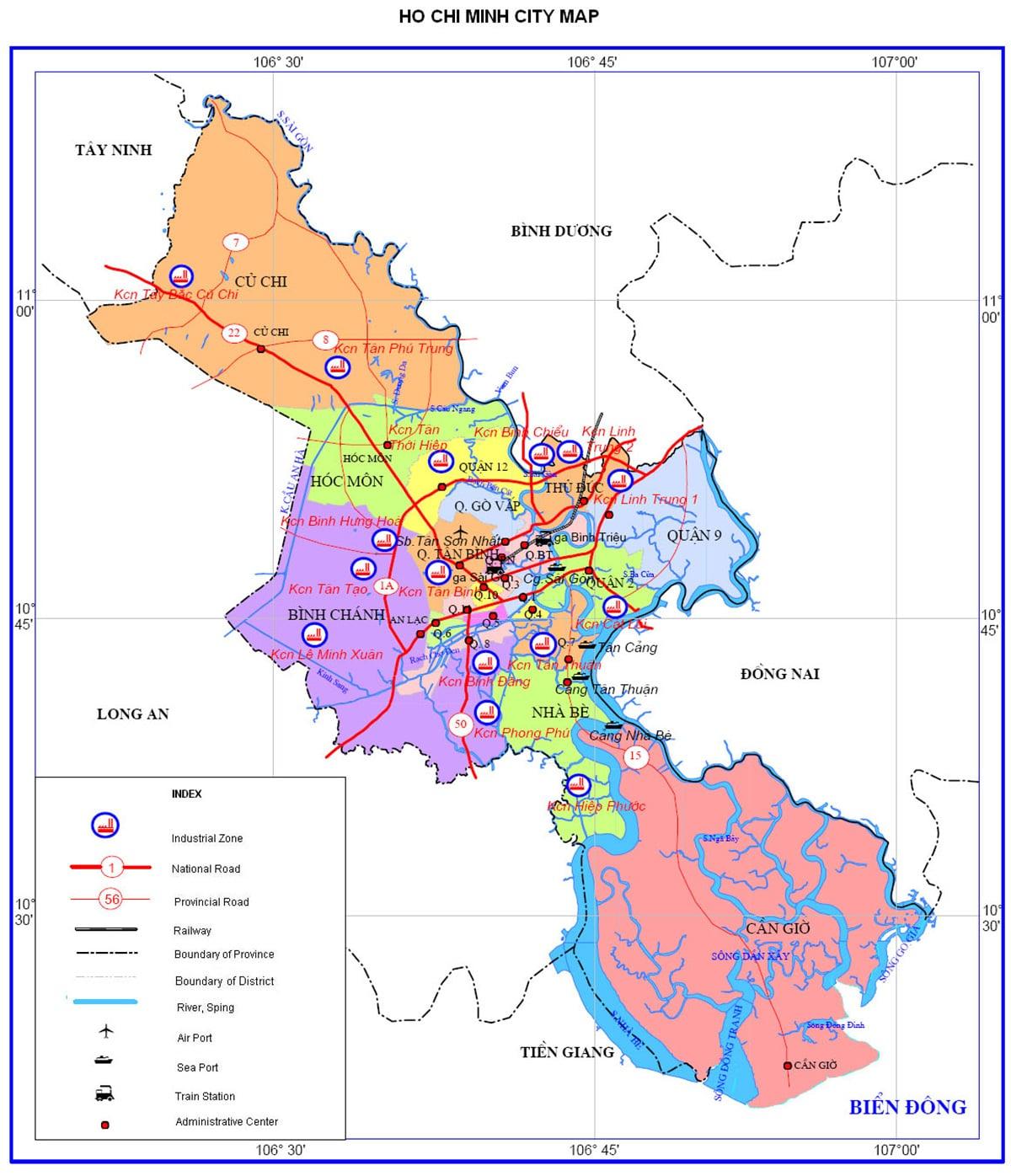 Bản đồ huy hoạch toàn Thành phố Hồ Chí Minh