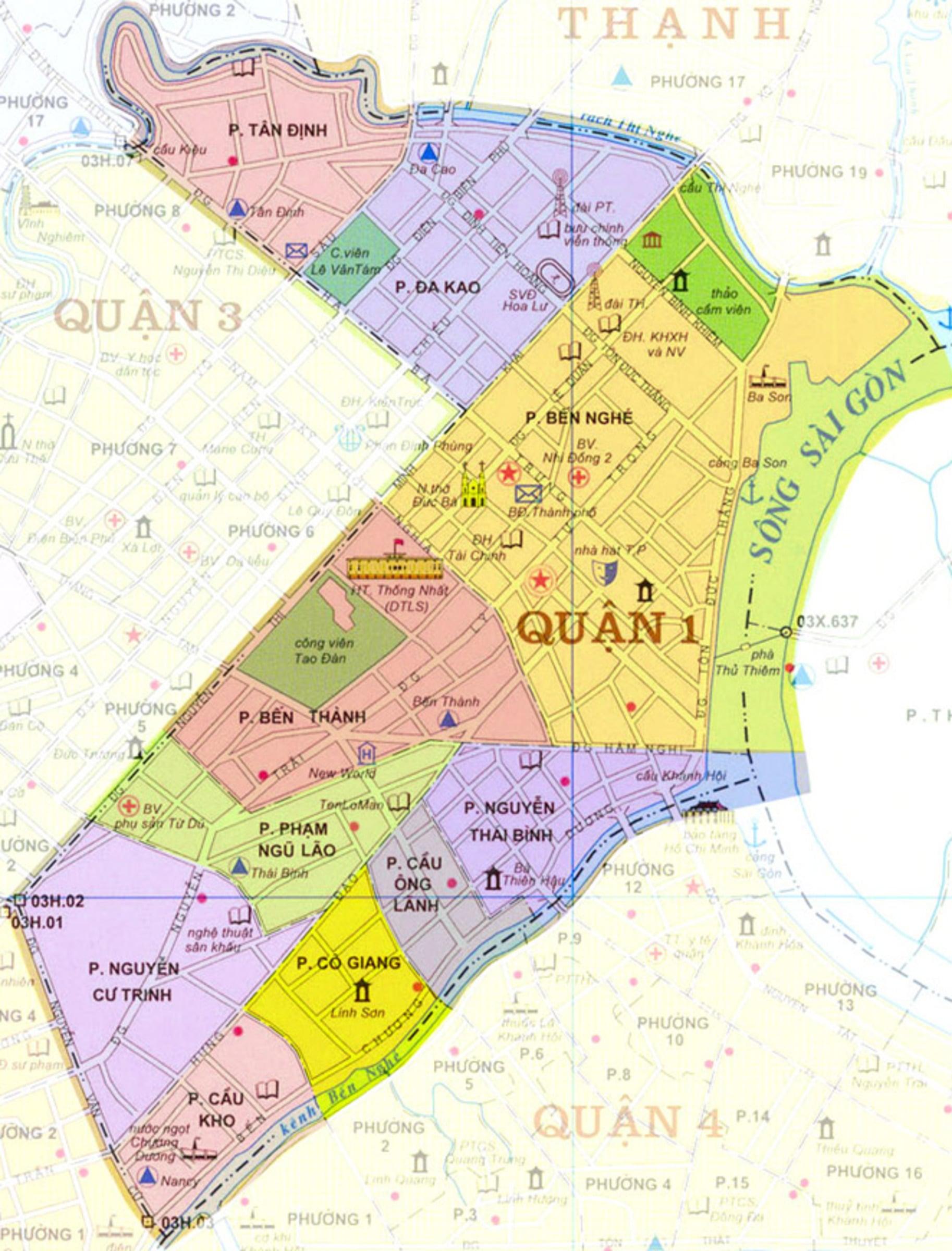 Bản đồ Quận 1 TPCHM