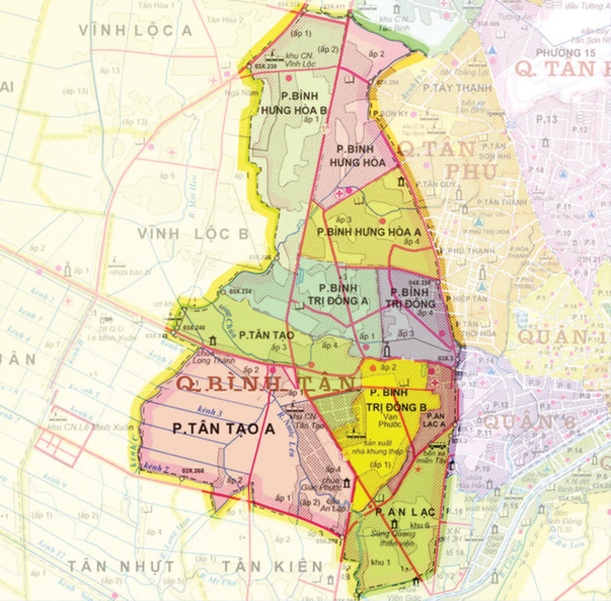 Bản đồ Quận Bình Tân TPHCM