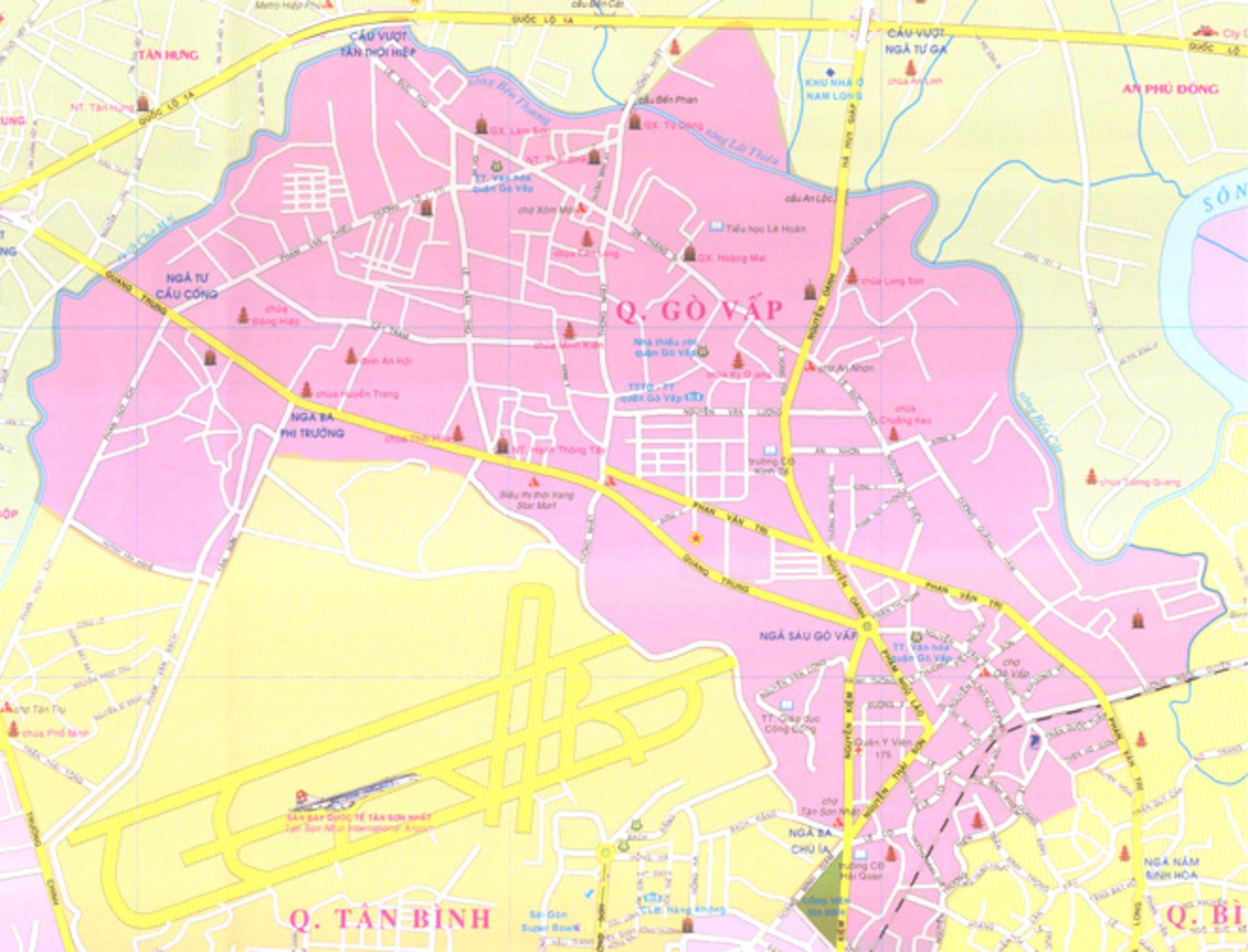 Bản đồ Quận Gò Vấp TPHCM