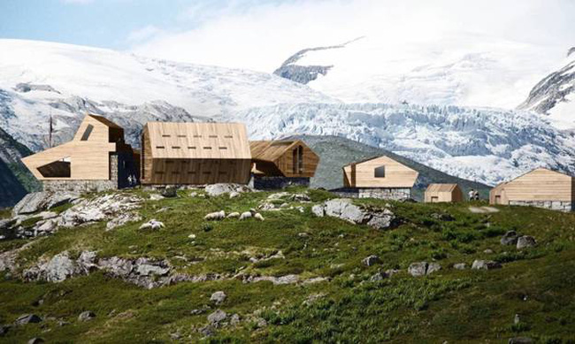 Những ngôi nhà Cabin trên đồi núi