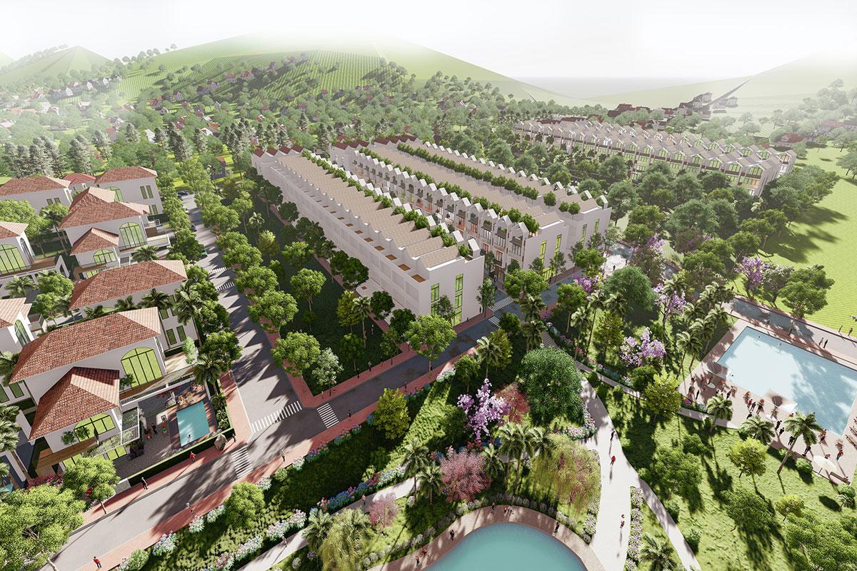 Phối cảnh tổng thể Bảo Lộc Park Hill