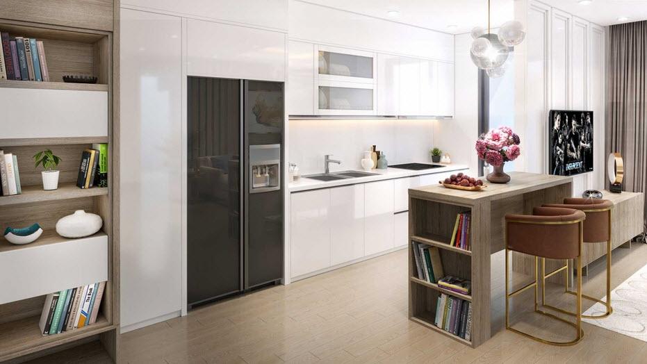 Thiết kế nội thất bên trong Hometel ở Vinhome
