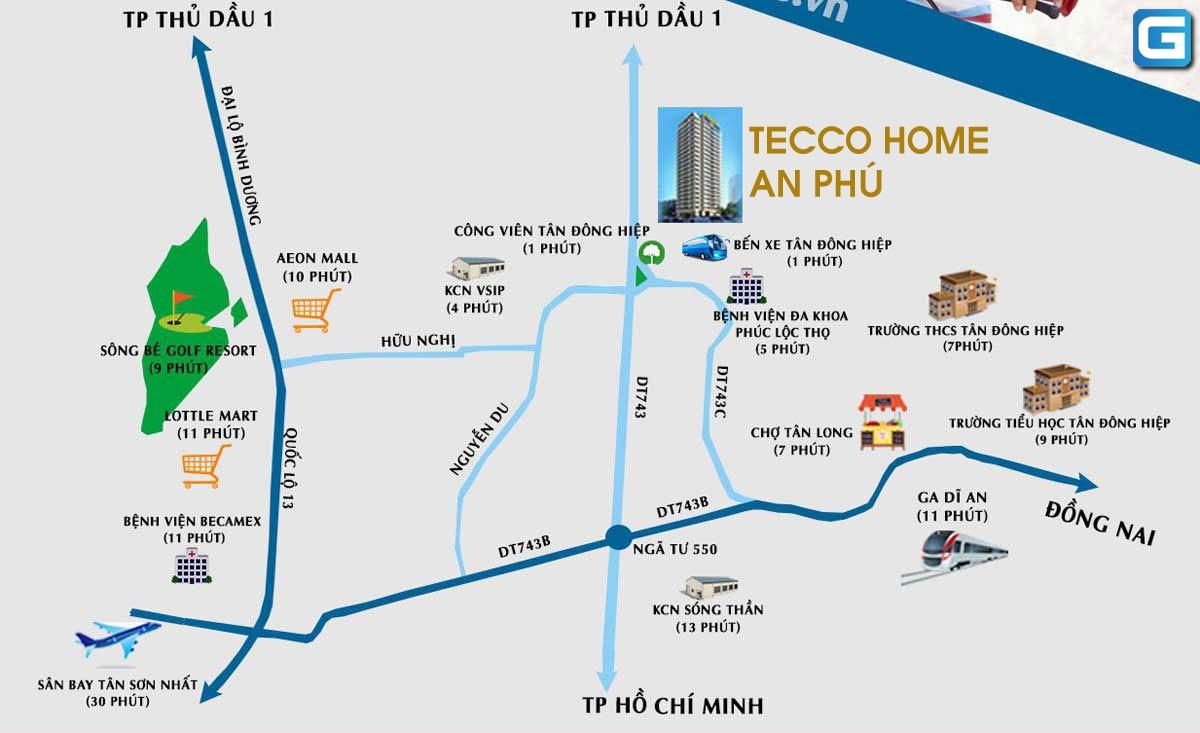 Tiện ích ngoại khu Tecco Home An Phú Bình Dương
