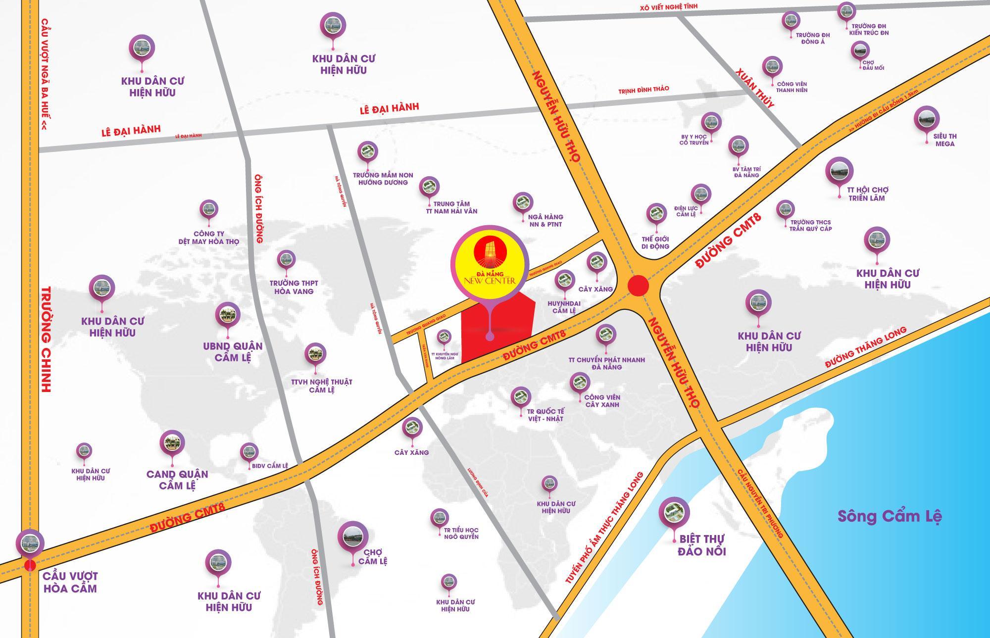 Tiện ích ngoại khu dự án Đà Nẵng New Center