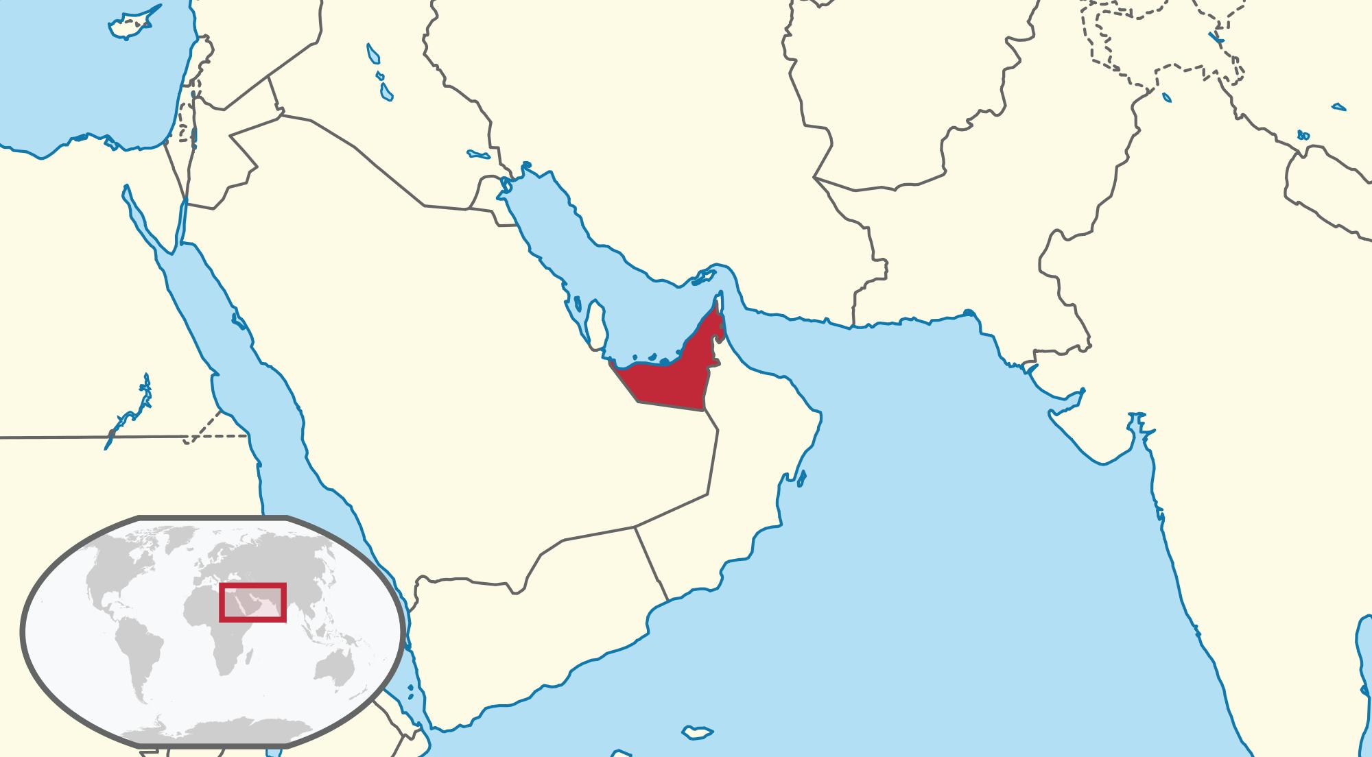 Vị trí của Dubai trên thế giới