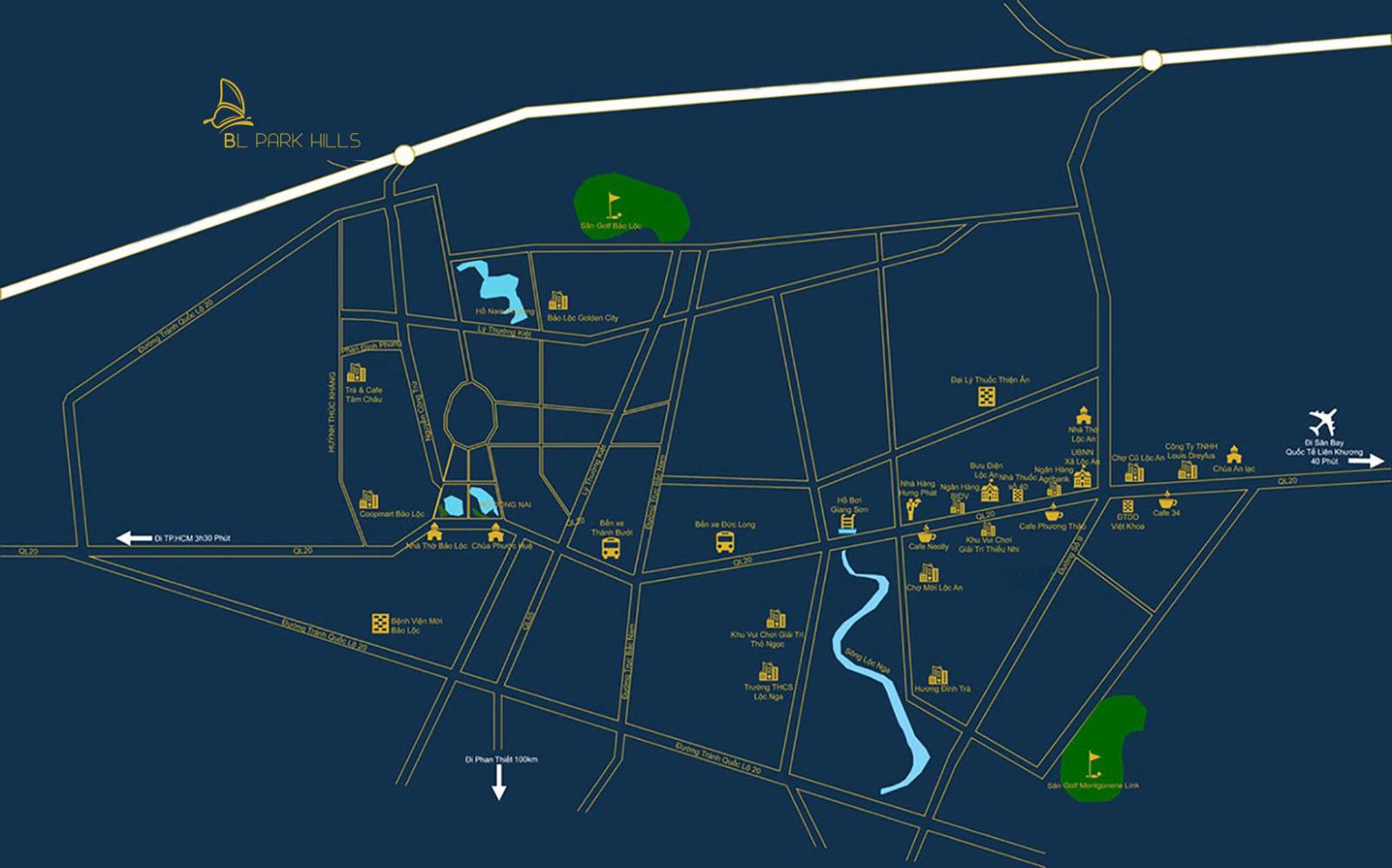 Vị trí dự án Bảo Lộc Park Hill