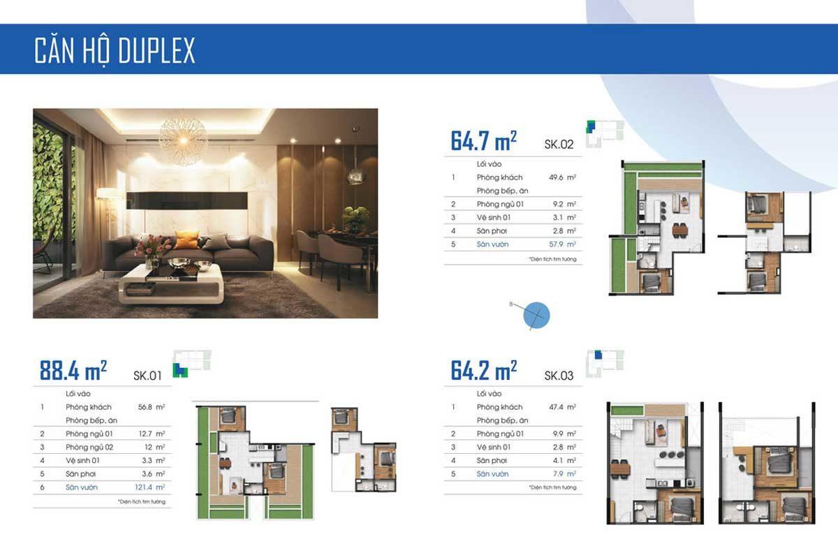 Mặt bằng căn hộ Duplex điển hình tại ST Moritz - 2