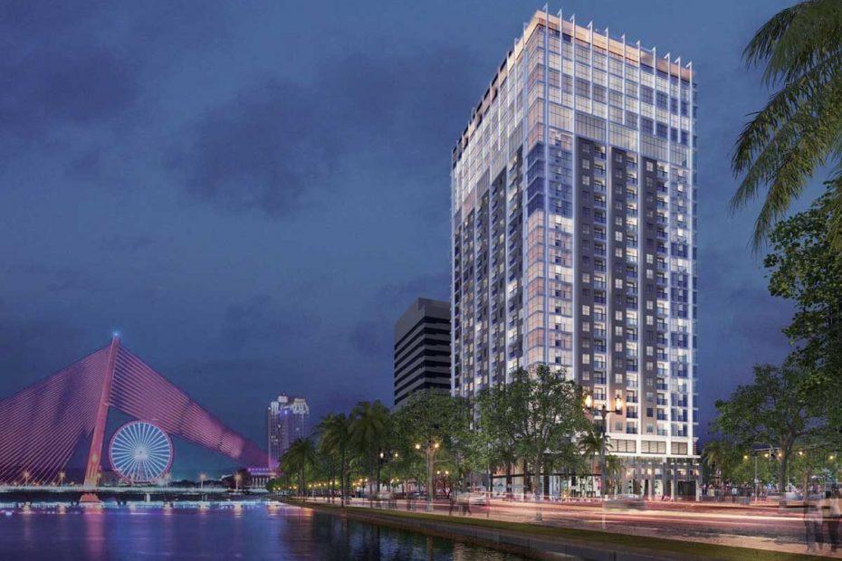 Phối cảnh tổng quan dự án Nagomi Waterfront Tower