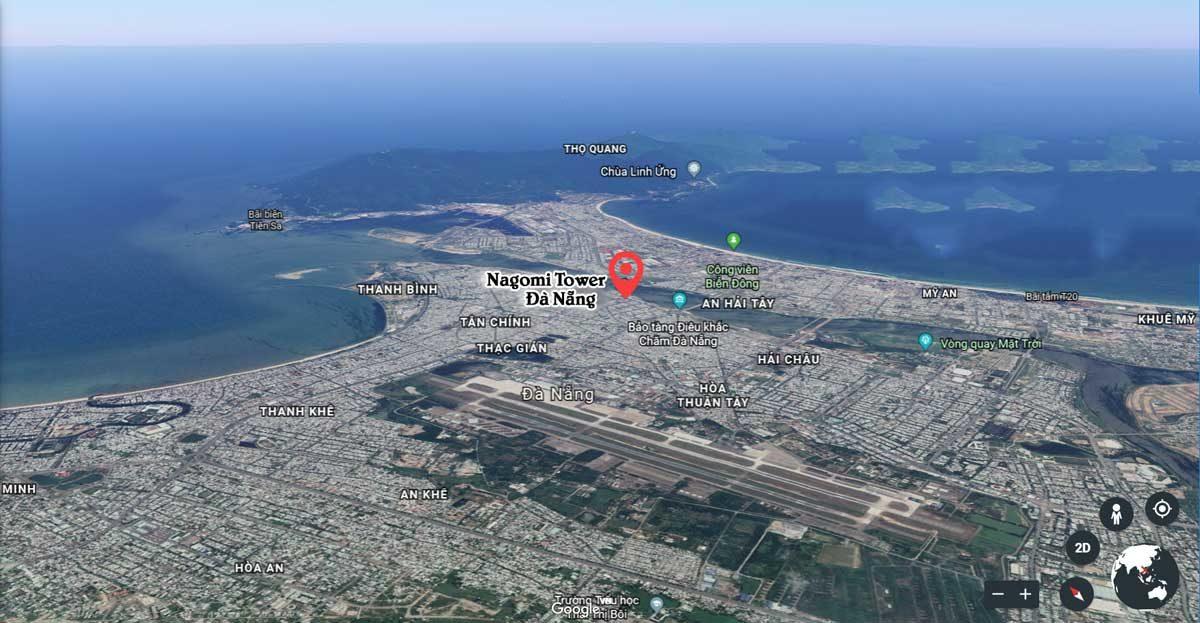 Vị trí dự án Nagomi Waterfront Tower
