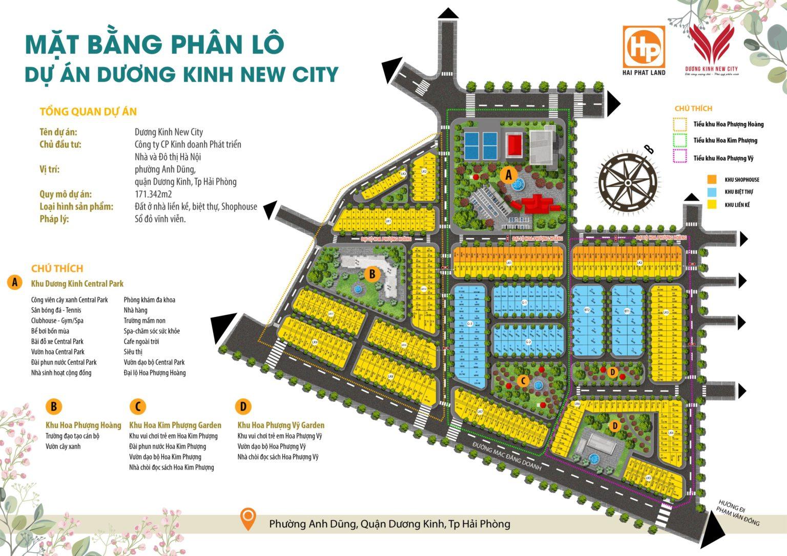 Mặt bằng phân lô dự án Dương Kinh New City Hải Phòng