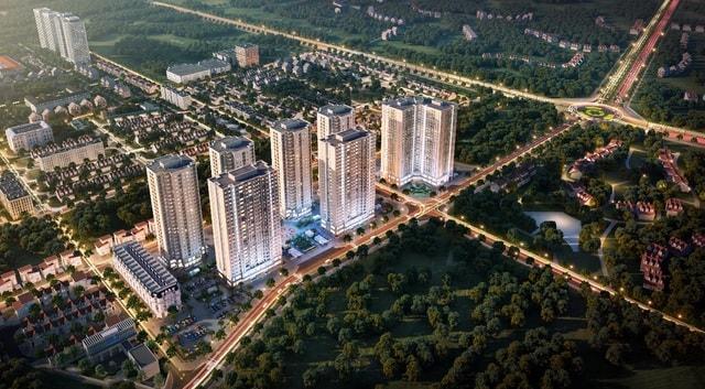 Phối cảnh tổng thể khu dự án Mipec City View