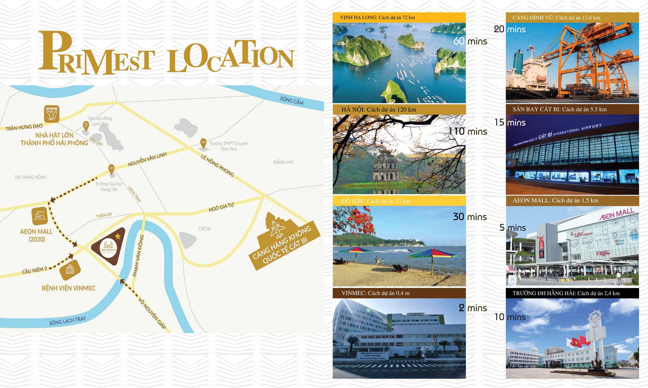 Vị trí dự án chung cư The Minato Residence