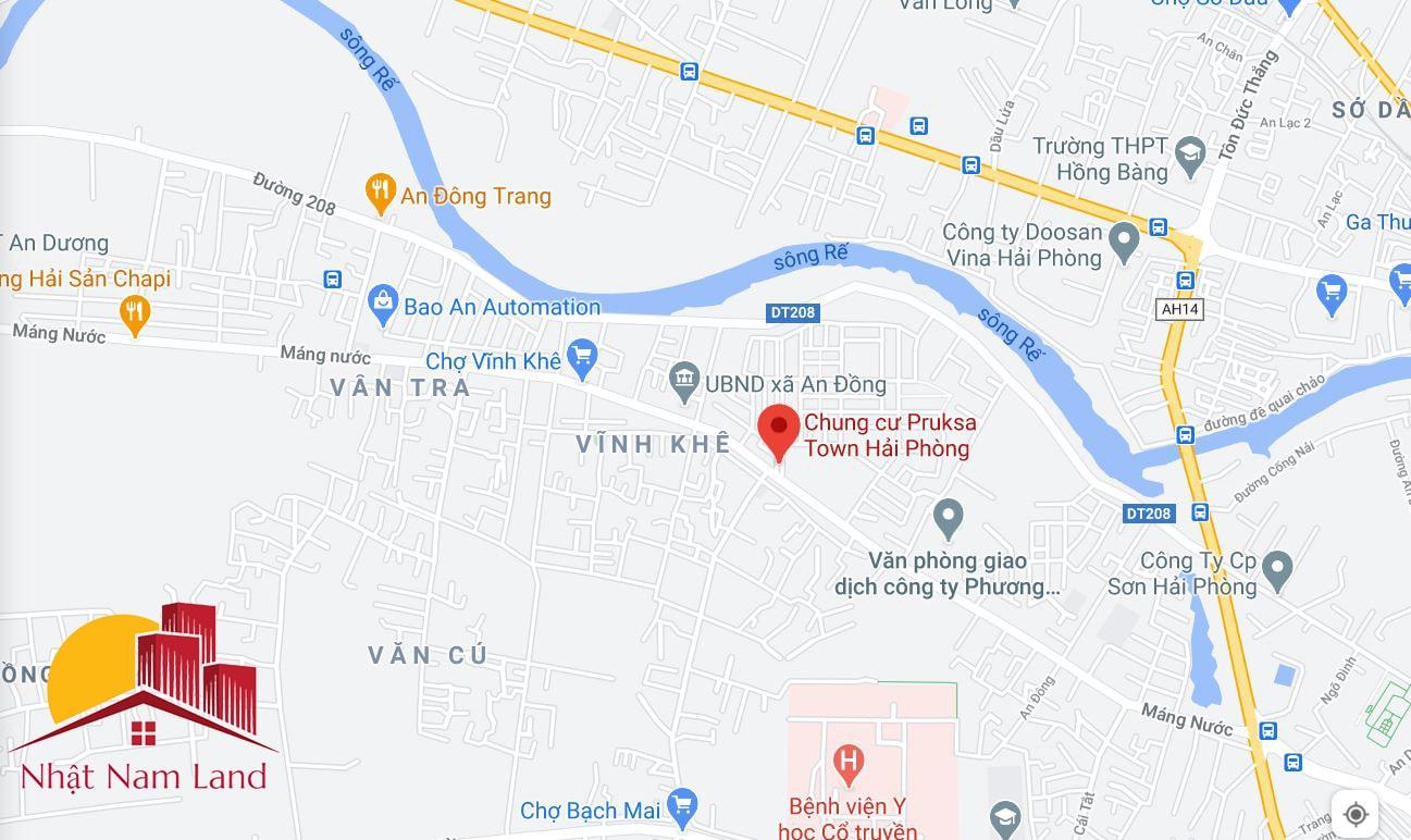 Vị trí dự án Pruksa Town An Đồng